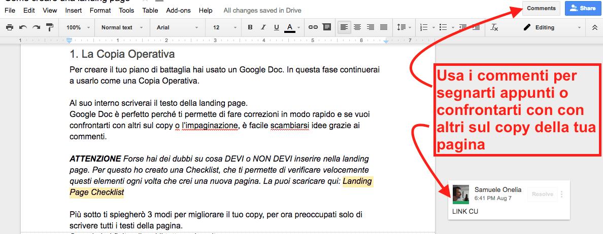 Come creare una landing page passo passo