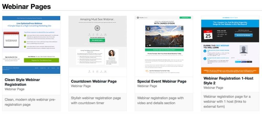 webinar optimizepress
