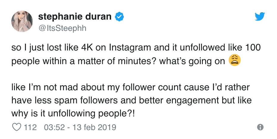 Stephanie Duran Instagram Follower