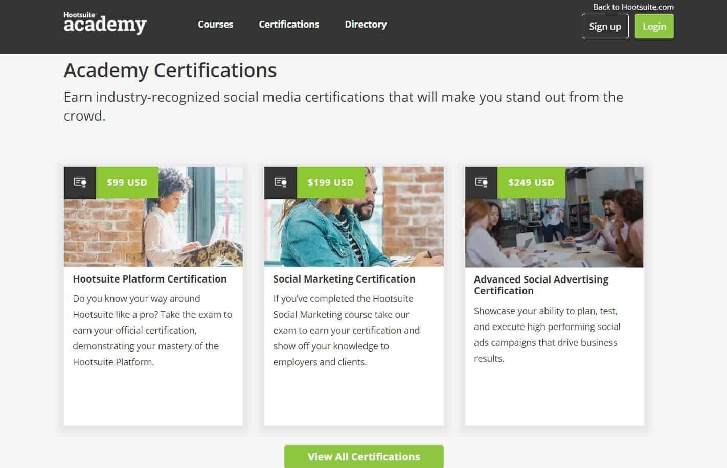 Le certificazioni avanzate di hootsuite