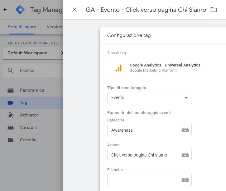 Tracciare i click su link, immagini e bottoni con Google Tag Manager 6
