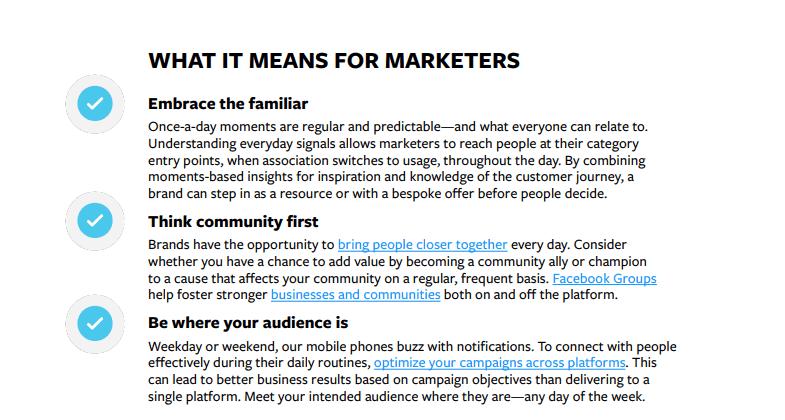 Report Facebook cosa significa per i Marketers