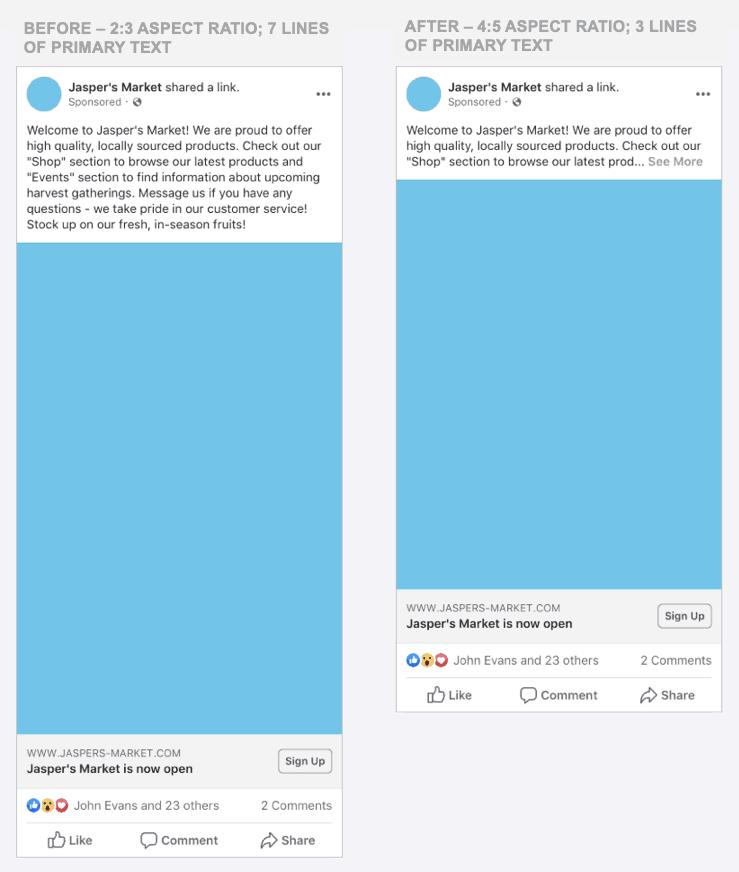 Facebook ratio news feed mobile