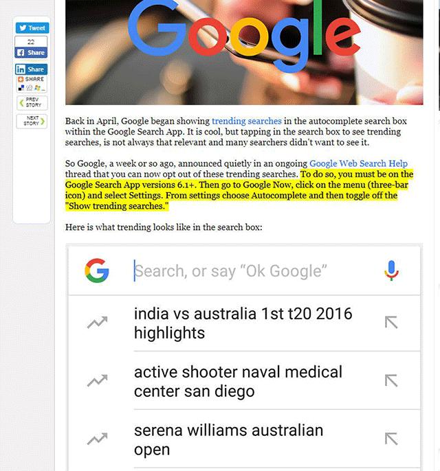 Google sta testando i contenuti in evidenza basati sui click sui risultati di ricerca 2
