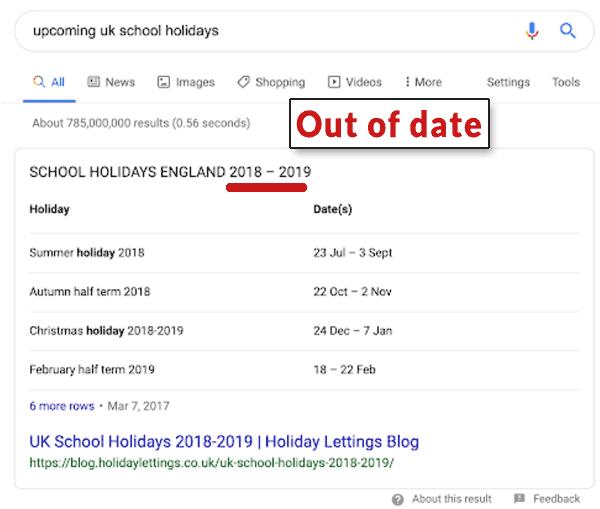 snippet obsoleto scuola