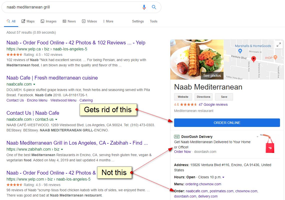 Google-Ordering-Food