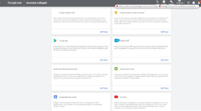 Google Account collegati