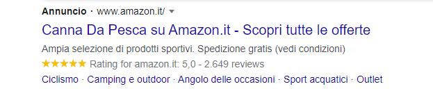 Google Ads annuncio rete