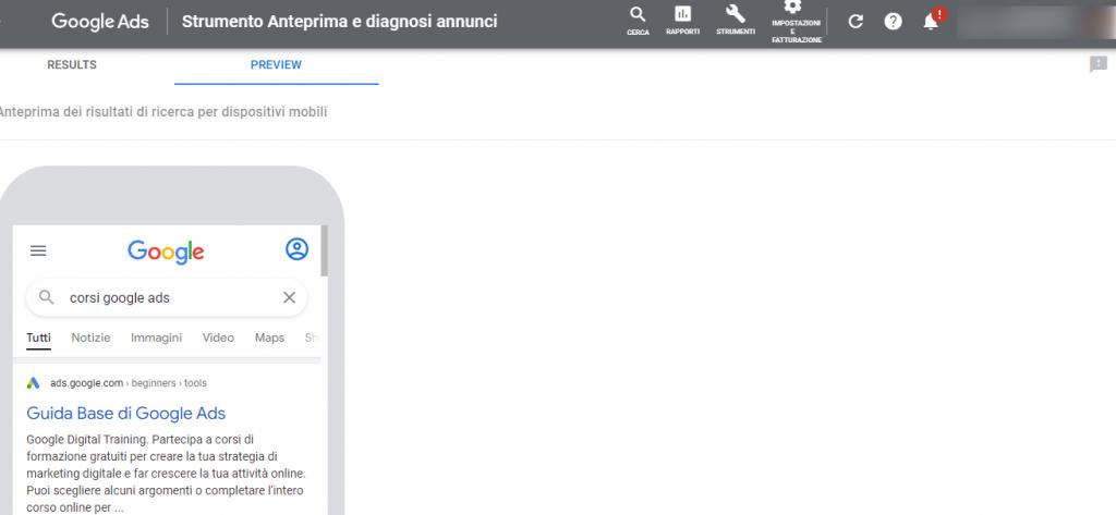 Google-Ads diagnosi annunci