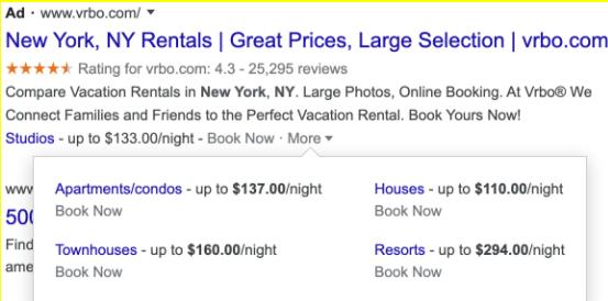 Google Ads estensione prezzo
