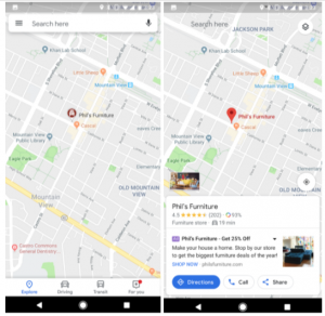 Google-Ads local maps