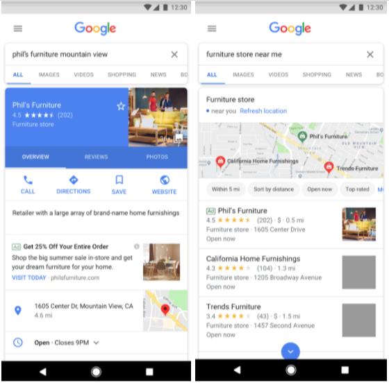 Google-Ads local search