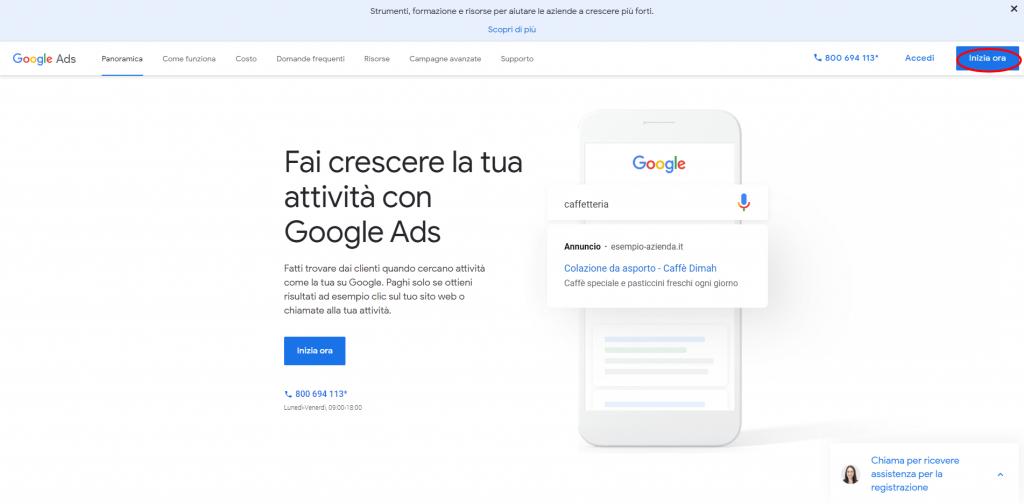 Google-Ads-pagina start
