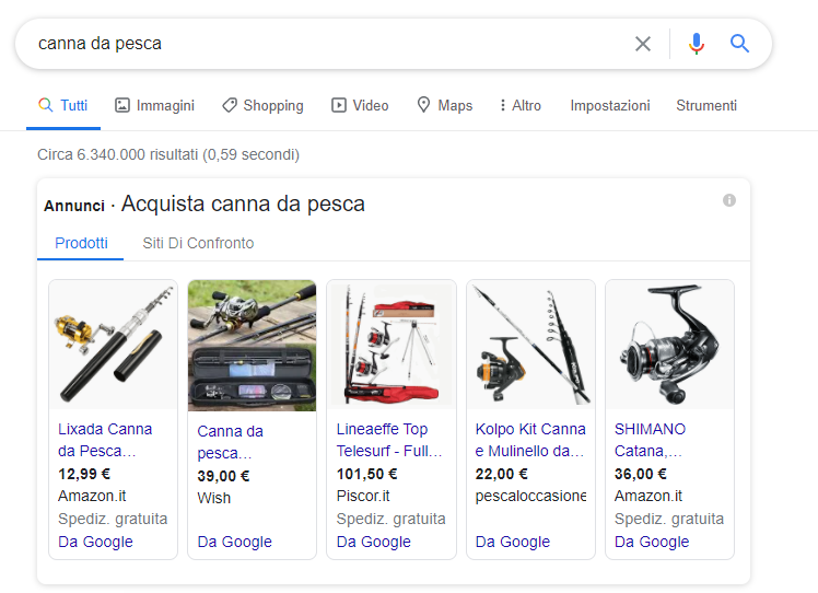 Google Ads search shopping