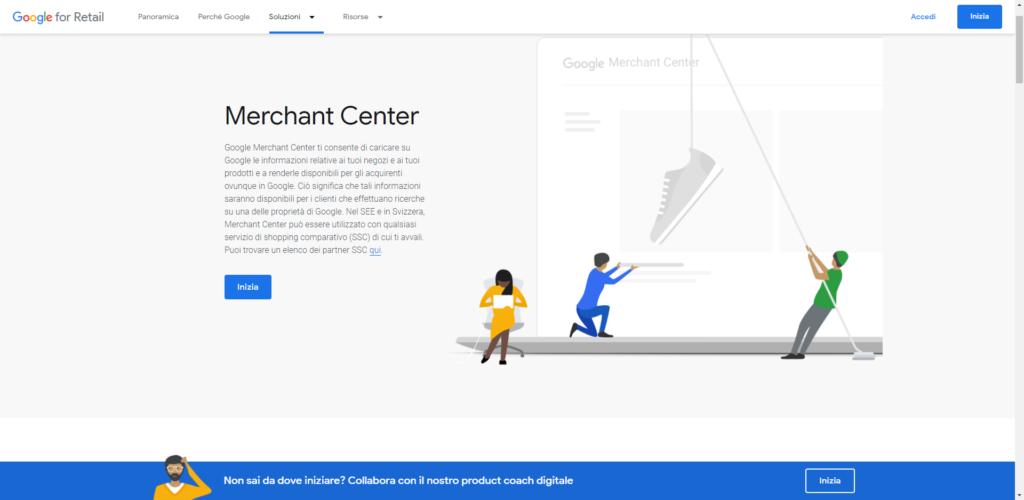Guida E-commerce merchant center
