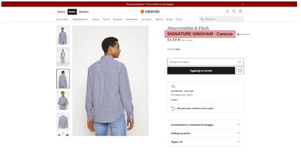 Guida E-commerce zalando