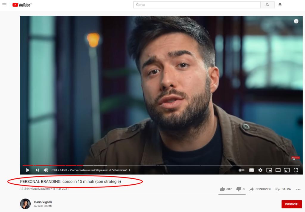 Guida Storytelling Dario Youtube