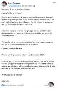 Post Luca Santoro Gruppo Facebook Taste Academy