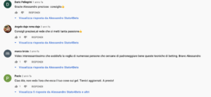 Commenti YouTube Canale Stats4Bets