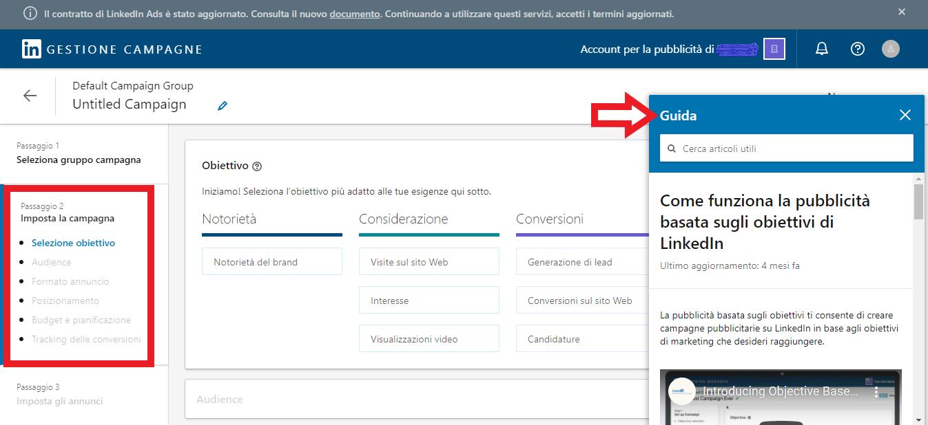 impostare la tua campagna LinkedIn