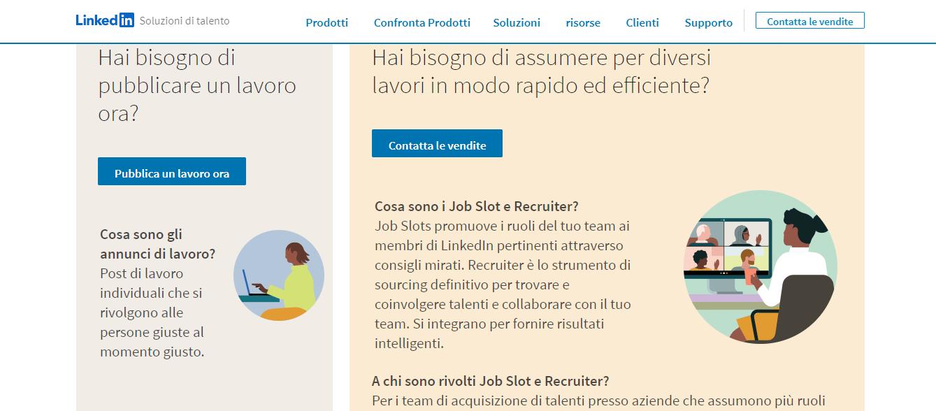 i 2 piani di LinkedIn recruiter